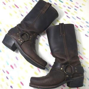 Frye Harness 12R boots brown leather broken in 6.5